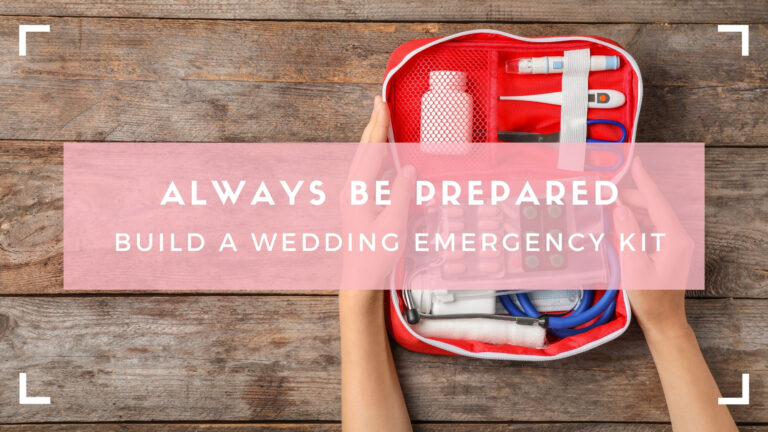 Wedding Planners emergency kit blog header