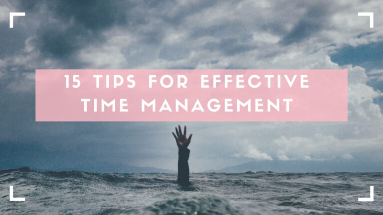 time management tips blog header