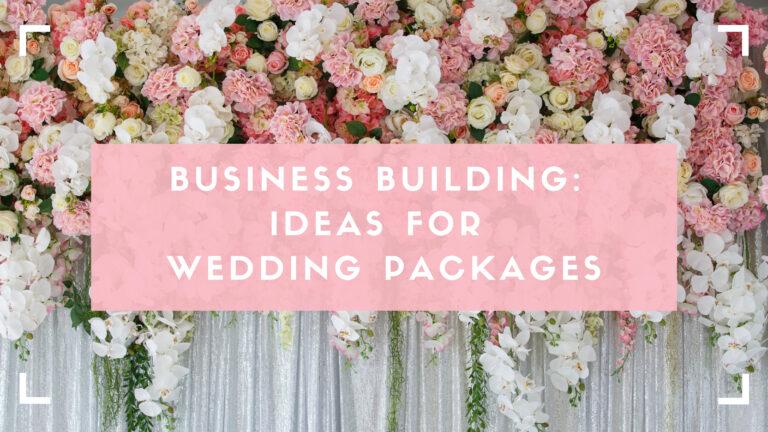 Wedding packages blog header image with floral background