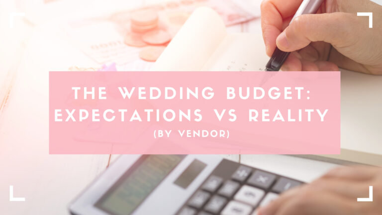 wedding budget by vendor blog header