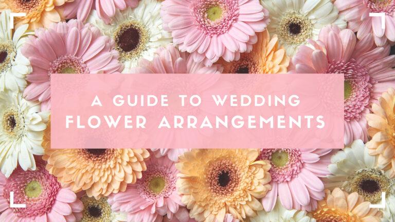 Wedding flower arrangements blog header