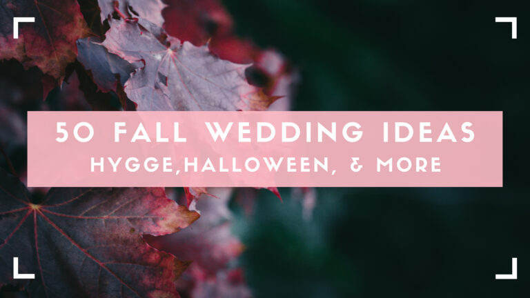 Fall wedding ideas blog header