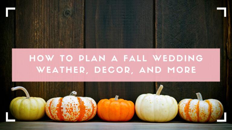 Fall wedding decoration, pumpkins blog header