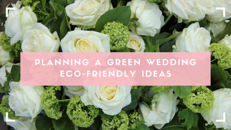 green wedding blog header