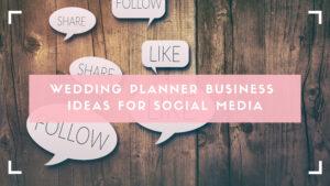 Wedding Planner Business Ideas blog header